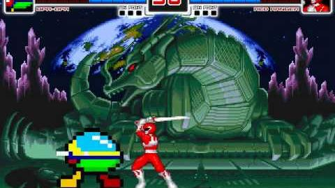MUGEN Color Coded - Opa-Opa vs Red Ranger