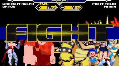 Team Wreck-It Ralph vs Team Fix-It Felix 4v4 Patch MUGEN 1
