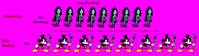 File:Marceline and Epic Mickey Sprites.PNG