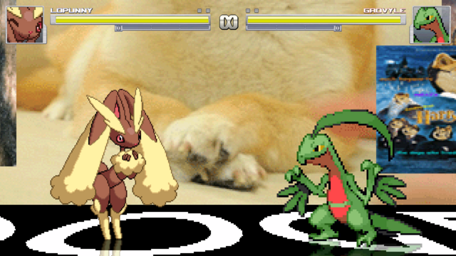 File:Lopunny fighting Grovyle minus the fighting.png