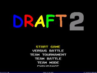 Draft 2 Main Menu