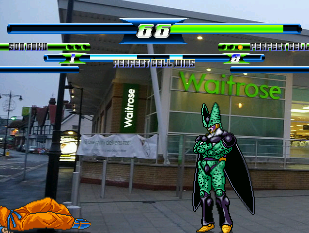Goku and Cell go to Waitrose!