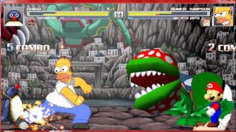 Mugen Pingu and SuperMario64 vs Homer Simpson and Peter Griffin