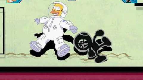 Tall Paul Mugen 3 Homer Simpson vs Mr Game & Watch