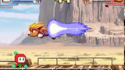 Random Mugen Battle- Bomberman vs. Sparkster