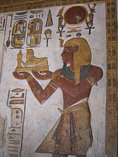 File:Relief from the sanctuary of the Temple of Khonsu at Karnak depicting Ramesses III.jpg