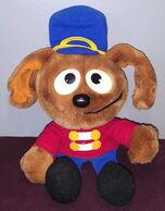 Dakin 1988 muppet babies marching band rowlf plush