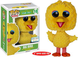 Funko-POP Big Bird flocked barnes & noble