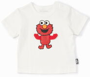 Mono comme ca ism japan 2013 t-shirt toddler moving fabric arms elmo