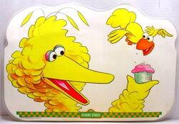 1982 sesame placemat big bird