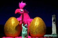 Giant pink bird