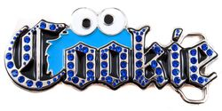 Cookie Monster Bling Belt Buckle