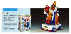 Illco 1992 preschool toys ferris wheel pull toy
