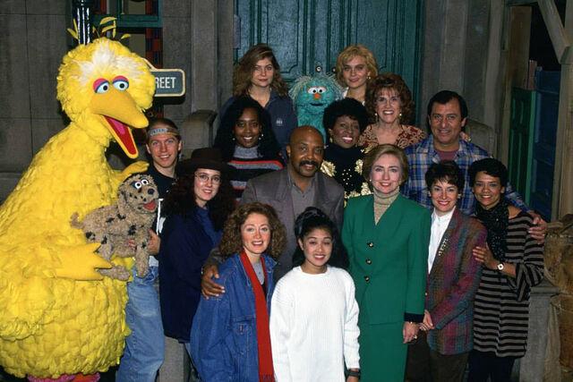 File:Hilary Clinton and Sesame Street cast 1993.jpg