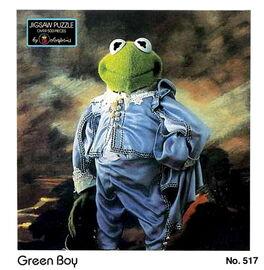 Colorforms 1985 green boy puzzle