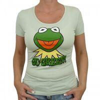 Logoshirt-Kermit-GoGreen-Girlie-Shirt-lightgreen