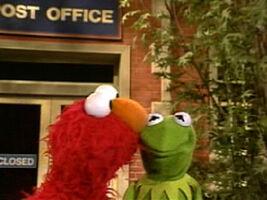Kiss elmo kermit post office