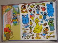 Colorforms 1986 big bird play set 2