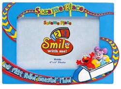 Sesame place frame roller coaster