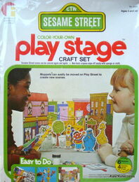 Friends 1977 color-your-own play stage craft set 1