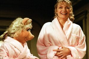 Michelle Pfeiffer bathrobe Miss Piggy