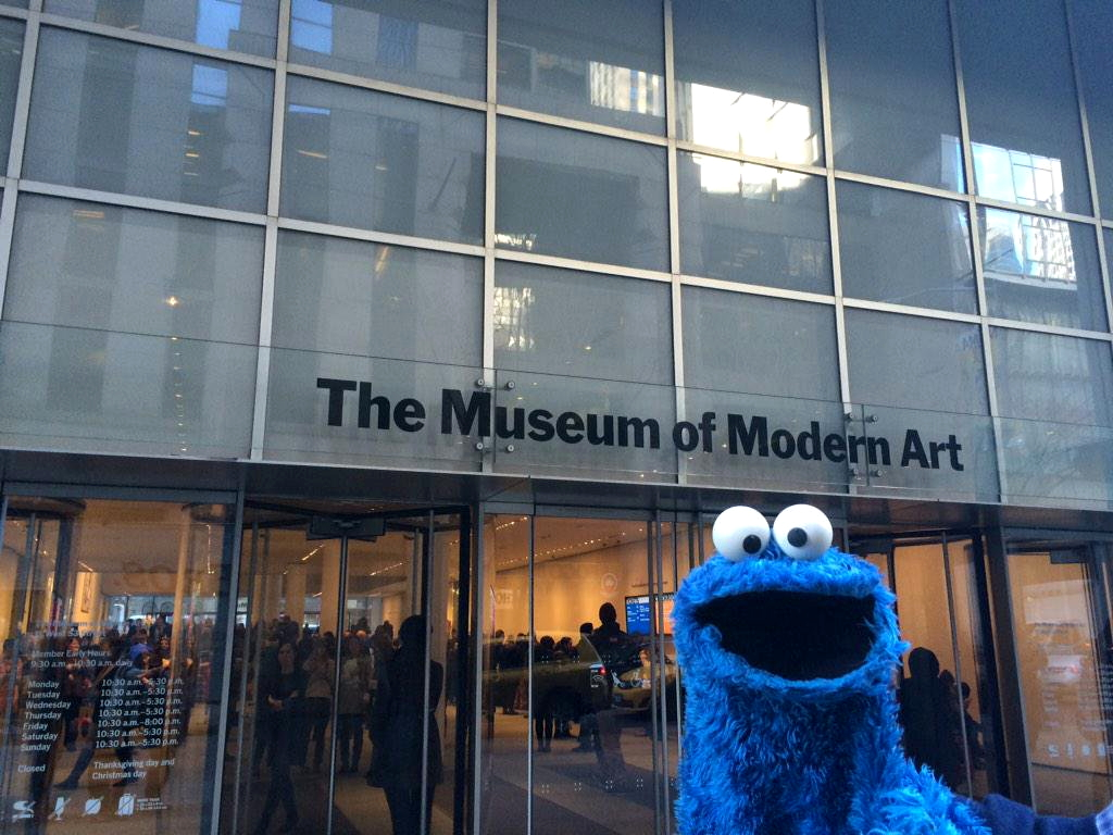 The color-play coloring book moma - Cookie Monster Visits The Museum Of Modern Art In 2015 As Promotion For The Special The Cookie Thief