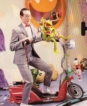 Pee Wee and Kermit