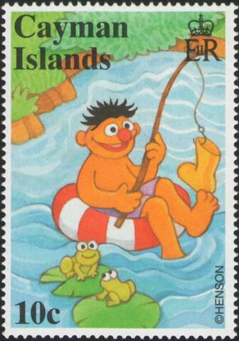 File:Cayman stamps Sesame Street Ernie 10 cents.JPG