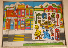 Colorforms 1990 town & country play set 2