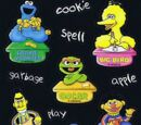 Sesame Street stickers (Sandylion)