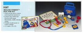 Illco 1992 preschool toys sesame street doctor's set