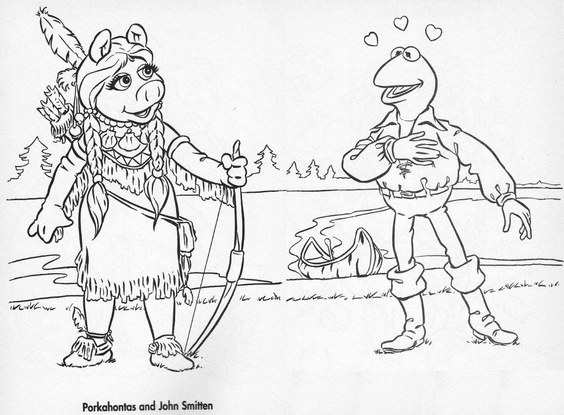 kermit and miss piggy coloring pages murderthestout