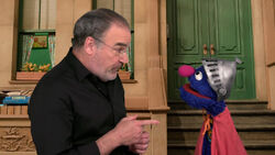 Mandy Patinkin and Super Grover