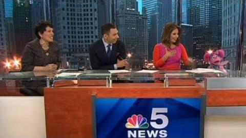 Abby Cadabby on NBC Chicago News in 2014