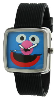 Viva time black rubber strap grover