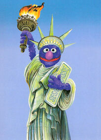Grover-Statue-Of-Liberty-German