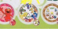 Sesame Street wall clocks (Chara Hiroba)