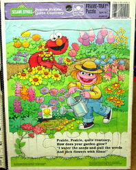 Golden 1993 frame-tray puzzle prairie dawn elmo