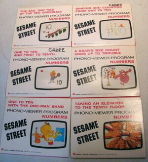 Sesame street phono-viewer program 1970