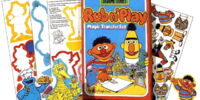 Sesame Street Rub n' Play Transfer Sets