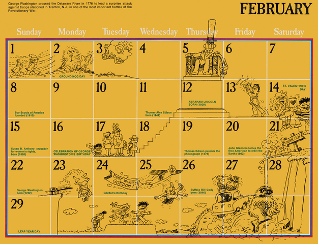 File:1976 sesame calendar 02 february 2.png