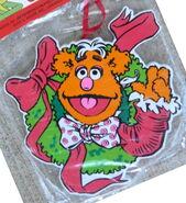 Kurt adler muppet christmas carol wreath fozzie bear