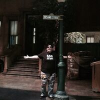 Lea DeLaria Sesame Street sign Nov 4 2014