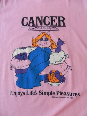 Avon fashions 1987 miss piggy astrology t-shirt cancer