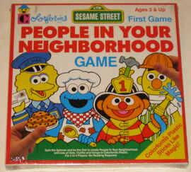 Colorforms 1990 people in your neighborhood game 1