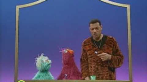 Sesame Street Laurence Fishburne With a Toothbrush