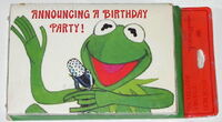 Hallmark 1978 kermit birthday invitation