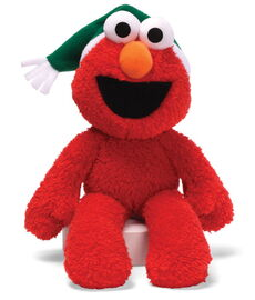 Gund 2012 elmo take along buddy with green christmas hat12in
