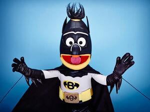 Bert as Batman