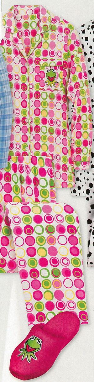 Disney store catalog 2005 kermit pajamas slipper set